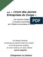 Le Forum Des Jeunes Entreprises Du Congo Daf Dac Brazzaville Avril 2008
