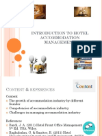 1 Introduction to Accommodation Management - Lecture Note