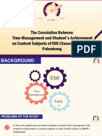 THE CORRELATION BETWEEN TIME MANAGEMENT AND STUDENTS' MASTERY IN CONTENT SUBJECTS OF EMI CLASSES