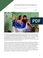 Elpais.com-Ortega Libera a Los Principales Líderes de Las Protestas en Nicaragua