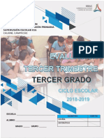 Tercer Grado Tercer Trimestre 2019