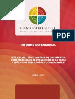 Informe Defensorial Verificacion de Documentos