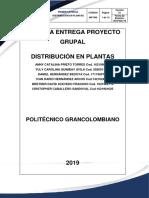 Tercera Entrega Distribucion en Plantas 2019