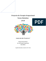 Proyecto de Terapia Ocupacional 2019 - Turno Vespertino