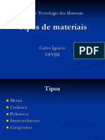 Tipos de Materiais