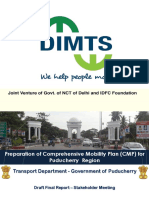 Puducherry Draft Mobility Plan - Presentation