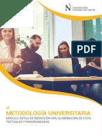 Estilo de Redacción APA Elaboración de Citas Textuales y Parafraseadas