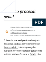 Derecho Procesal Penal -