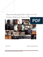 Operationalizing Gender Aspects in the CISP