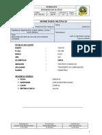 Informe Accidente de Unidad C6V-940