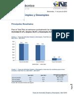 Cifras Empleo y Desempleo - Abril 2019
