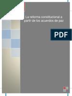 La Reforma Constitucional a Partir de Los Acuerdos de Paz de El Salvador