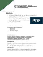 CLASIFICACIÓN DE SUSTANCIAS - DERECHO PENAL