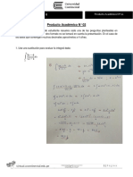 Cálculo II Producto Académico N 02