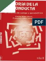 Teoría de La Conducta. Un Análisis de Campo y Paramétrico. (Ribes, E., & López, F)