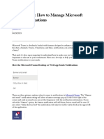 Managing MS Teams Notifications by Hunter W.