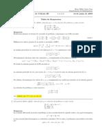 Corrección examen final de Cálculo III, miércoles 12 de junio de 2019