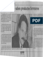 Edgard Romero Nava - Entre 15 y 35% Suben Productos Ferreteros - Economia Hoy 29.01.1990