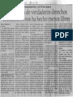 Edgard Romero Nava - La Ausencia de Verdaderos Derechos Economicos Nos Ha Hecho Menos Libres - El Expreso 24.01.1990
