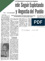 Edgard Romero Nava - No se puede seguir explotando el miedo y angustia del pueblo - El Carabobeño 17.02.1990