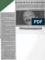 Edgard Romero Nava - Piden Promulgacion de Ley de Eximentes - Economia Hoy 10.02.1990