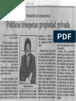 Edgard Romero Nava - Politicos Irrespetan Propiedad Privada - El Informador 13.01.1990