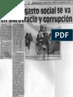 90% Del Gasto Social Se Va en Burocracia y Corrupcion - 14.09.1990