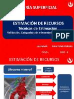 Estimación de Recursos Técnicas Validación Categorización Inventario de Recursos Fung Vargas Sian
