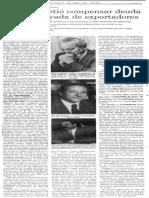 Edgard Romero Nava - BCV Prometio Compensar Deuda Externa Privada de Exportadores - El Universal 31.08.1990
