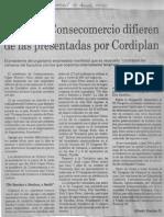 Edgard Romero Nava - Cifras de Consecomercio Difieren de Las Presentadas Por Cordiplan - El Universal 31.08.1990