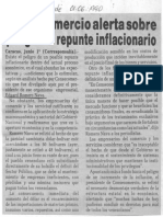 Edgard Romero Nava - Consecomercio Alerta Sobre Peligro de Repunte Inflacionario - Notitarde 01.06.1990