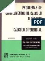 Problemas de Complemento de Calculo Algebraico y Diferencil Tomo 2º Mataix