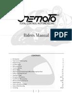 Onemoto - Riders Manual