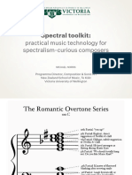 Practical Music Technology for Spectralism Composers