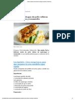 ¡Divinas! Pechugas de pollo rellenas de espárragos y mozzarella - Gastronomía.pdf