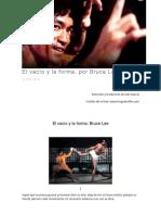 El vacío y la forma, por Bruce Lee