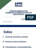Comercio Exterior Bolivia Informe Anual 22 Dic 2015