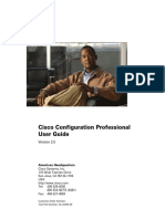 Cisco Configuration Professional-CCP-User Guide