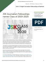 JSK Journalism Fellowships Names Class of 2019-2020 _ JSK