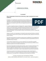 26-09-2016 Busca Gobernadora Pavlovich más inversiones y mejor coordinación en cruces fronterizos