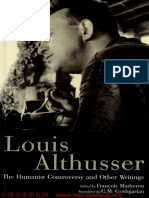 Althusser Humanist Controversy and Other Writtings