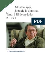 Carlos Montemayor Entrevistas
