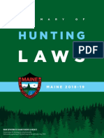 2018 19 Maine Hunting Laws