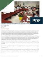 02-05-2019 Encabeza Astudillo Mesa de Coordinación por la Paz en Guerrero.