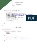 Ejercicios Java Primer Corte