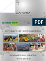 Cape Tourism - Introduction to Sustainable Tourism [Autosaved]