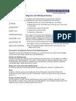 Northwestern Medicine Registro de Medicamentos Medication Record