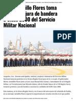 05-05-2019 Astudillo Flores Toma Protesta y Jura de Bandera a Clase 2000 Del Servicio Militar Nacional.