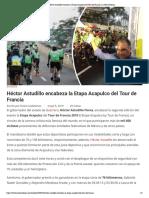 06-05-2019 Héctor Astudillo encabeza la Etapa Acapulco del Tour de Francia.