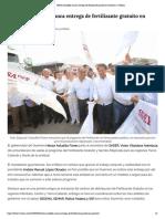 08-05-2019 Héctor Astudillo arranca entrega de fertilizante gratuito en Guerrero.